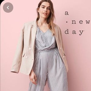 Target NWT striped wrap style jumpsuit